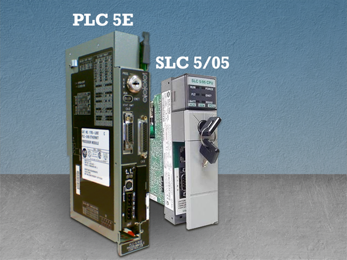Which PLC5 and SLC5 versions are compatible with ProSoft Ethernet/IP
