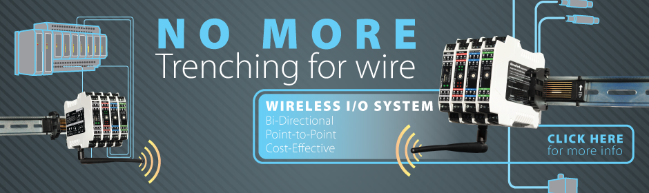 Wireless I/O - No more trenching for wire